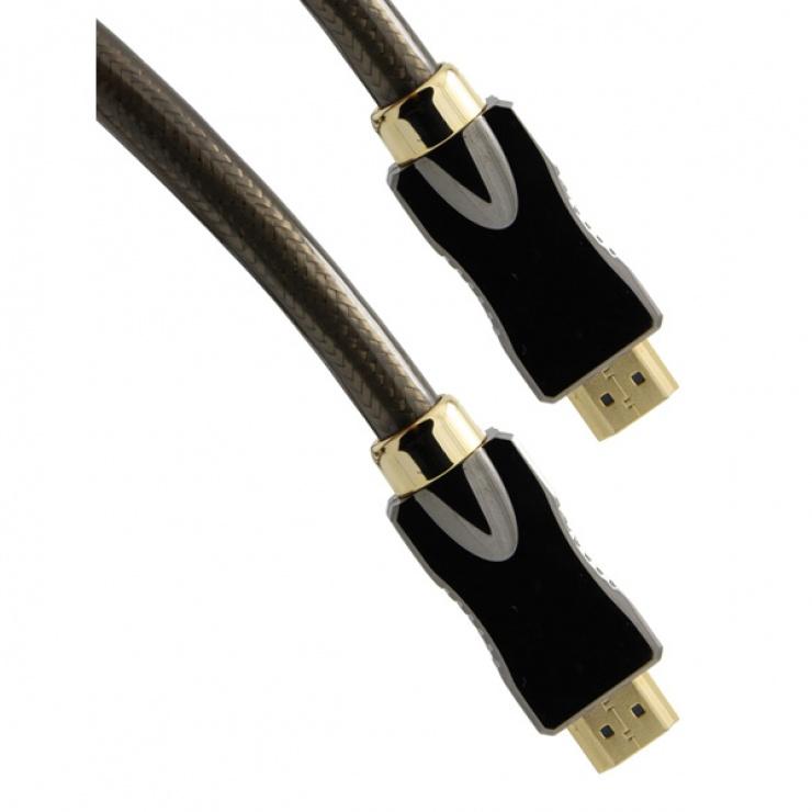 Imagine Cablu HDMI Ultra HD 4K cu Ethernet v2.0 T-T 1m, Roline 11.04.5680