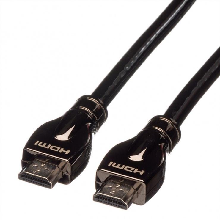 Imagine Cablu HDMI Ultra HD cu Ethernet T-T 7.5m, Roline 11.04.5684-1