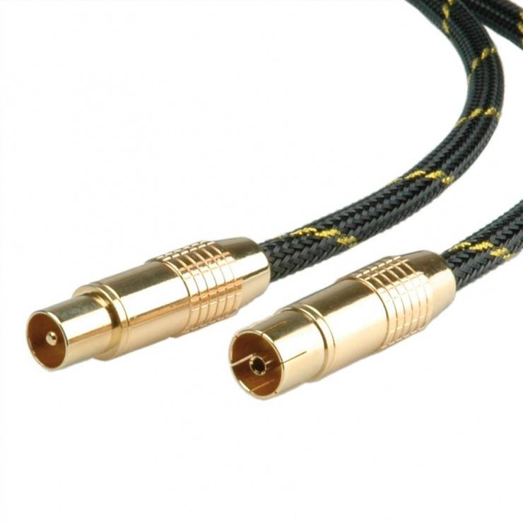 Imagine Cablu prelungitor antena GOLD T-M 2.5m, Roline 11.09.4243-1