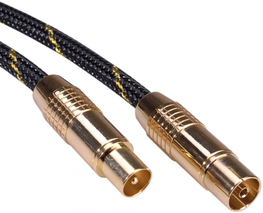 Imagine Cablu prelungitor antena coaxial GOLD T-M 2.5m, Roline 11.09.4243