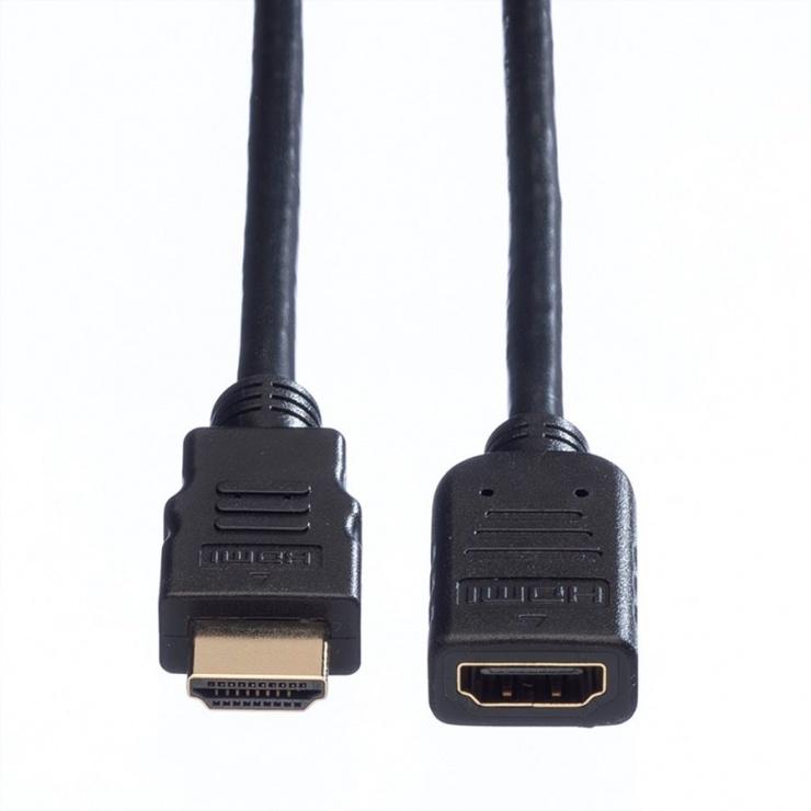 Imagine Cablu prelungitor HDMI T-M 3m Negru, Value 11.99.5576-1
