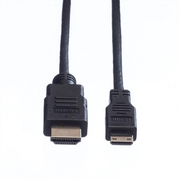 Imagine Cablu HDMI la mini HDMI-C T v1.4 0.8m, Value 11.99.5578-1