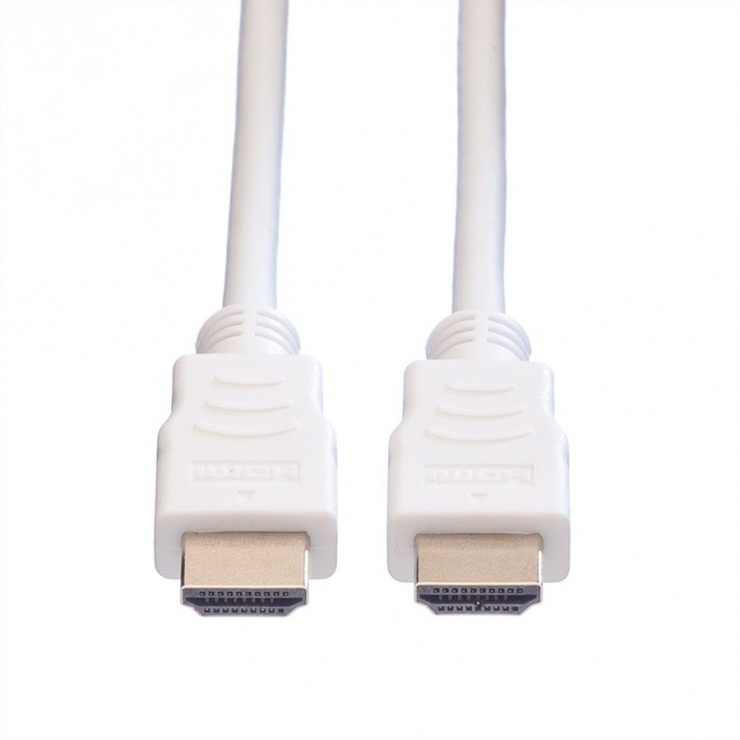 Imagine Cablu HDMI v1.4 19T-19T ecranat 3m Alb, Value 11.99.5703-1