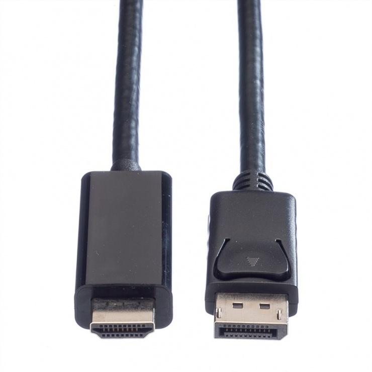 Imagine Cablu Displayport la HDMI UHD 4K T-T 2m Negru, Value 11.99.5786-1