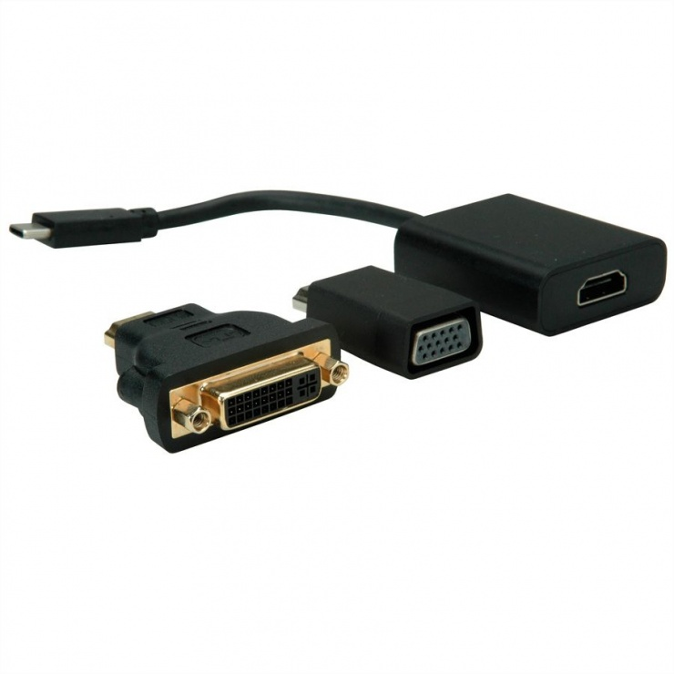 Imagine Adaptor USB 3.1-C la VGA + HDMI + DVI, Value 12.99.3229