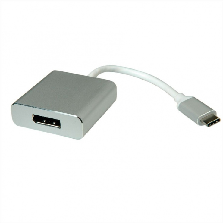 Imagine Adaptor USB 3.1 tip C la Displayport T-M Aluminiu, Roline 12.03.3220