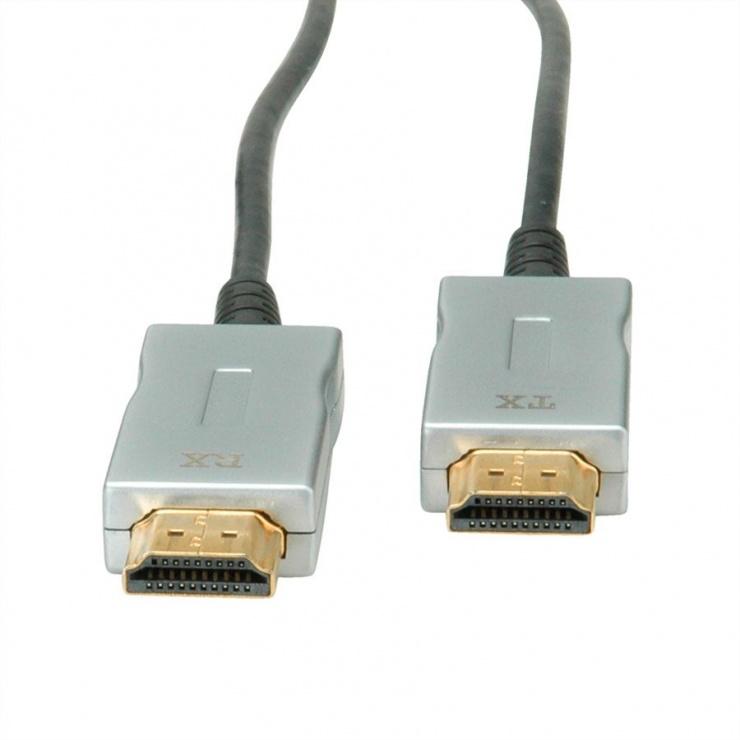 Imagine Cablu UHD HDMI Activ Optical (AOC) 4K@60Hz T-T 50m, Roline 14.01.3482-1