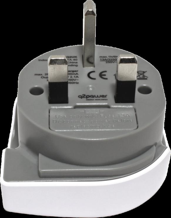 Imagine Adaptor World (EU, USA, UK) la UK + 1 x USB 2.1A, Q2POWER 19.07.1577