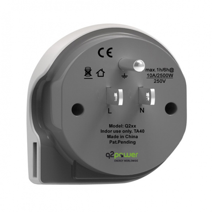 Imagine Adaptor World (EU, USA, UK) la USA + 1 x USB 2.1A, Q2POWER 19.07.1578