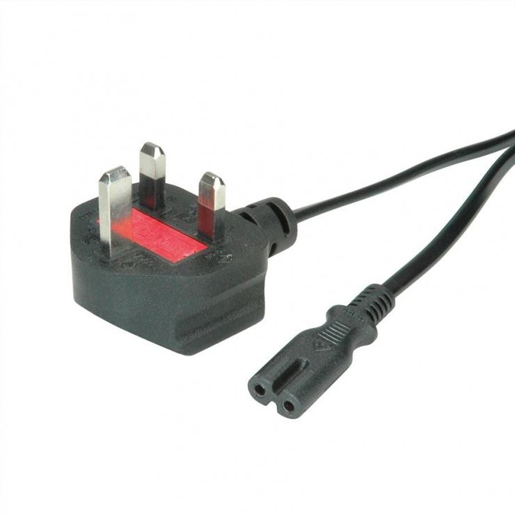 Imagine Cablu de alimentare UK la C7 2 pini 2.5A 1.8m Negru, Value 19.99.2017