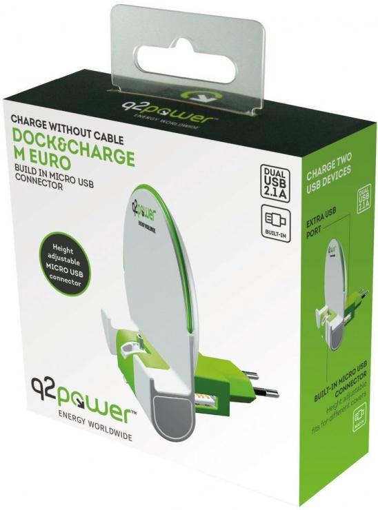 Imagine Dock & Incarcator priza cu micro USB 2.1A, Q2POWER 19.07.1594