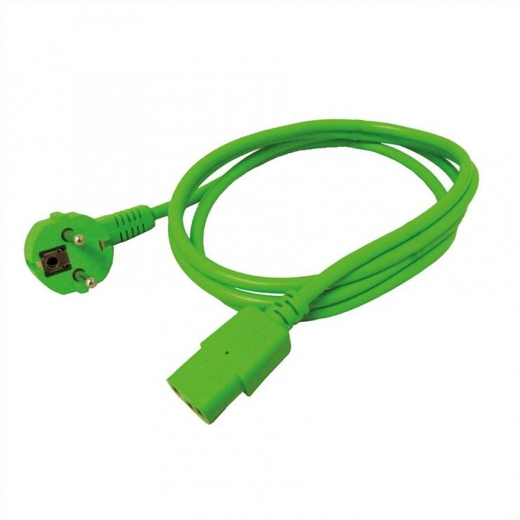 Imagine Cablu alimentare PC C13 1.8m Verde, Roline 19.08.1013