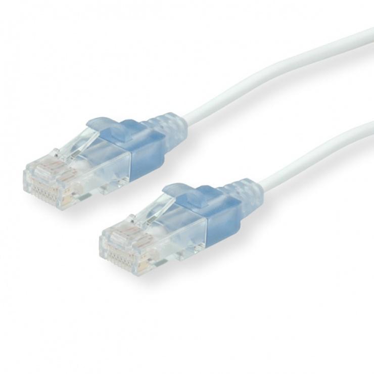 Imagine Cablu retea UTP Cat.6 slim Alb 5m, Roline 21.15.0965