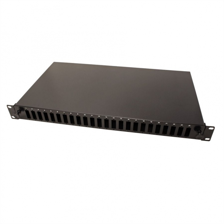 "Imagine Panel 19"" (caseta fara conectori) Fibra optica 1U extendable 24x SC-DX quadruple, Value 21.99.0650"