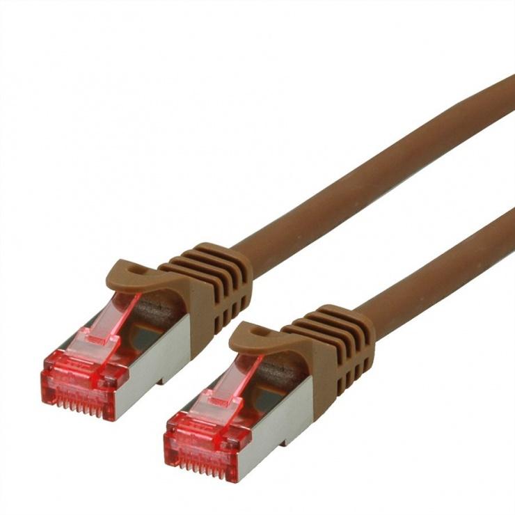 Imagine Cablu de retea SFTP cat 6 Component Level LSOH maro 20m, Roline 21.15.2689