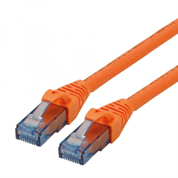 Imagine Cablu de retea UTP Patch Cord Cat.6A Component Level LSOH orange 3m, Roline 21.15.2773