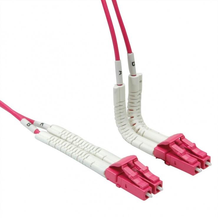 Imagine Cablu fibra optica LC-LC OM4 cablu flexibil (unghi) 2m, Value 21.99.8792
