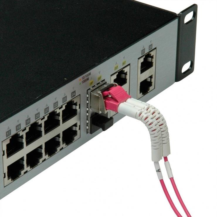 Imagine Cablu fibra optica LC-LC OM4 cablu flexibil (unghi) 1m, Value 21.99.8791