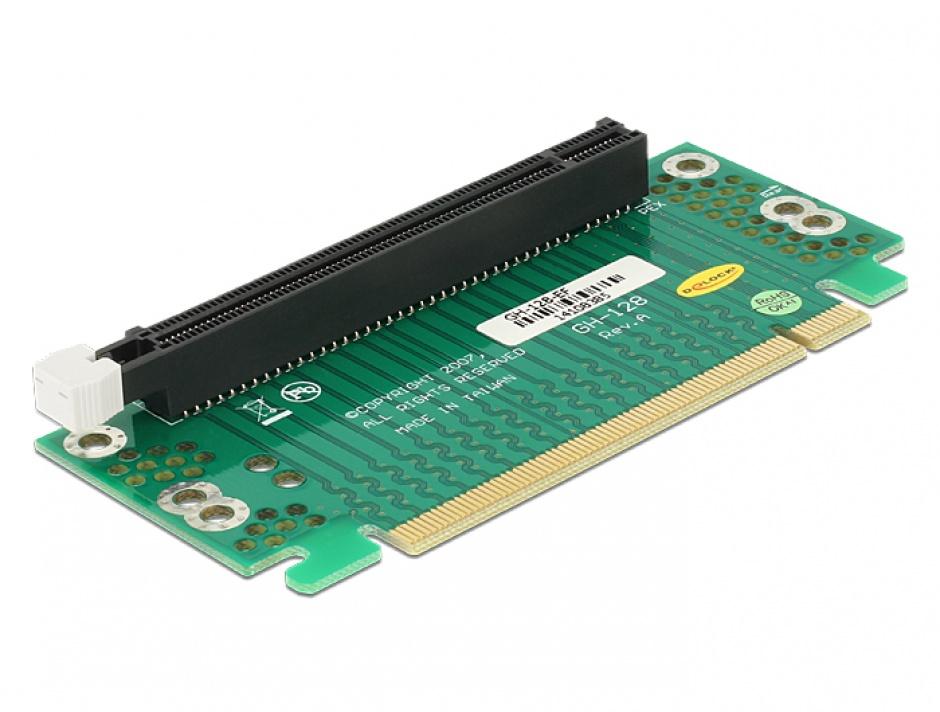 Imagine Riser Card PCI Express x16 unghi 90° right insertion pentru HTPC, Delock 41914