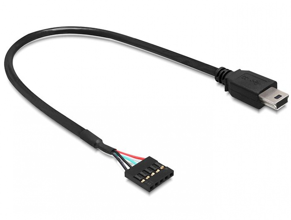Imagine Cablu USB 2.0 pin header la USB mini M-T 30 cm, Delock 83170