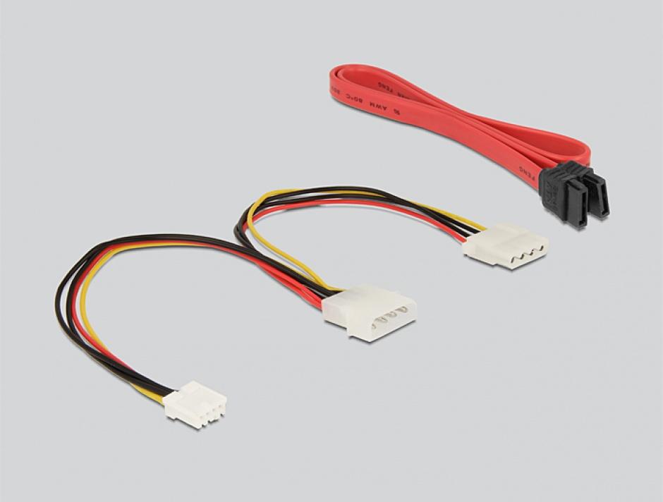 Imagine Convertor IDE la SATA / SATA la IDE, Delock 62438-1