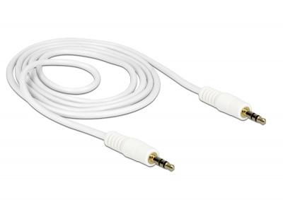 Imagine Cablu stereo jack 3.5mm 3 pini Alb T-T 2m, Delock 83747