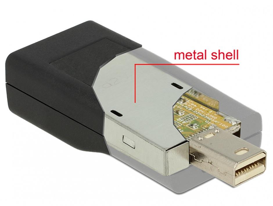 Imagine Adaptor Mini Displayport 1.2 la HDMI T-M 4K Pasiv negru, Delock 65686