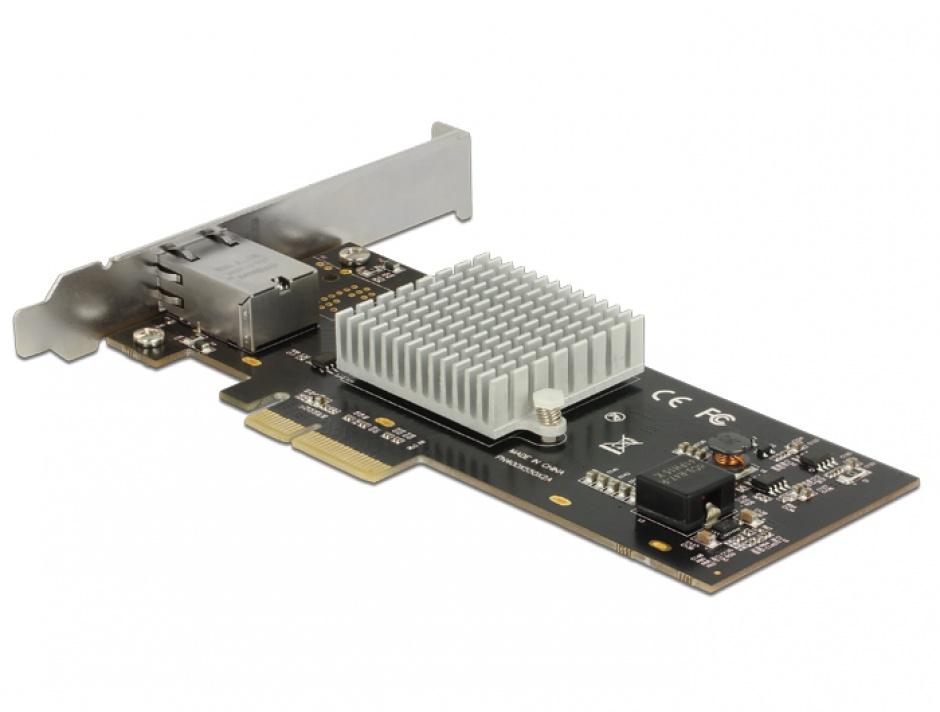 Imagine PCI Express la 1 x 10 Gigabit LAN RJ45, Delock 89521