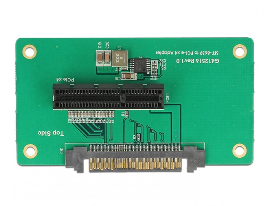 Imagine Adaptor U.2 SFF-8639 la PCIe x4 cu fixare, Delock 62863-2