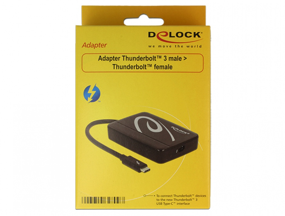 Imagine Adaptor Thunderbolt 3 (USB tip C) la Thunderbolt T-M, Delock 62709-1
