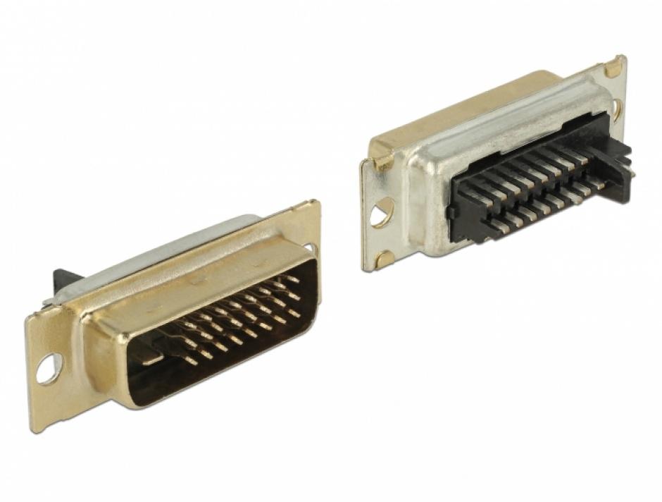 Imagine Conector de lipit DVI 24+1 pini tata, Delock 65883