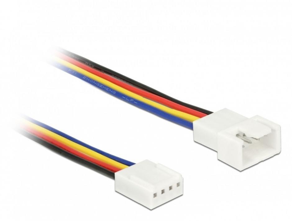 Imagine Cablu prelungitor alimentare ventilator PWM 4 pini T-M 100cm, Delock 85364