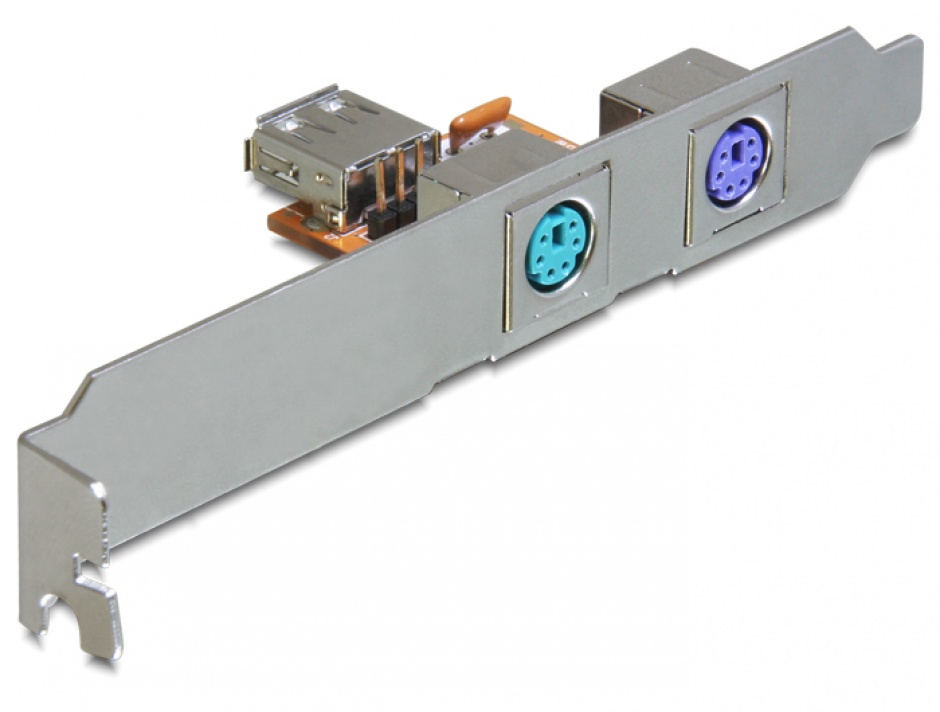 Imagine Rear bracket USB la 2 x PS/2, Delock 61589-4