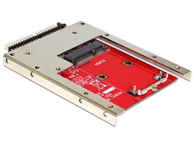 """Imagine Convertor IDE 44 Pini la mSATA + frame 2.5"""" (pana la 7 mm), Delock 62495-1"""
