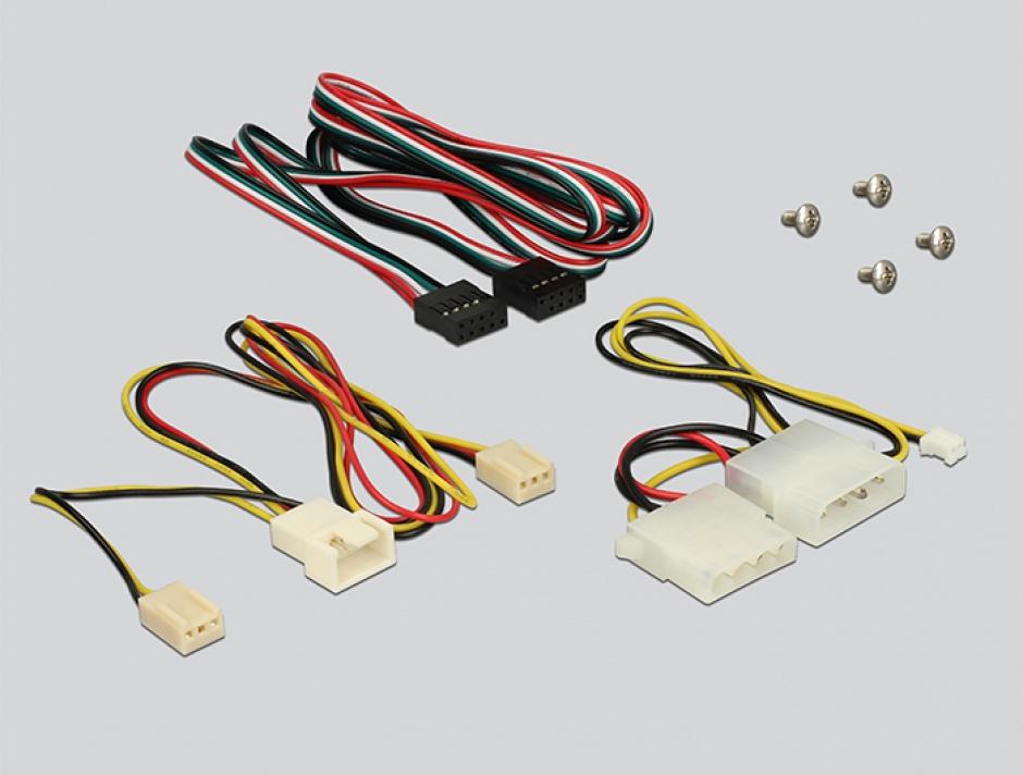 "Imagine Front Panel 3.5"" cu 2 x USB 3.0 + 2 x USB 2.0 fan control, Delock 62685"