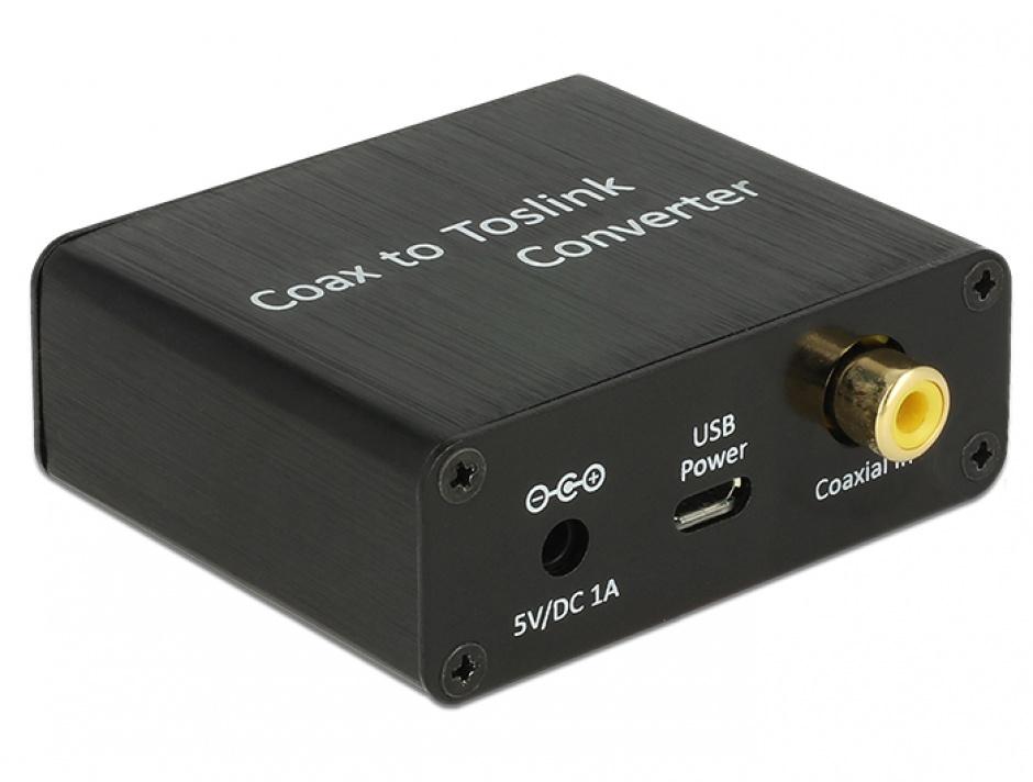 Imagine Convertor Digital Audio Coaxial la TOSLINK, Delock 62790