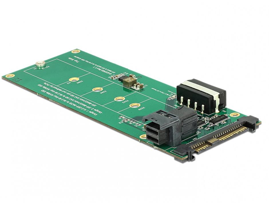 Imagine Convertor U.2 SFF-8639 / SFF-8643 NVMe la 1 x M.2 Key M, Delock 62945-3