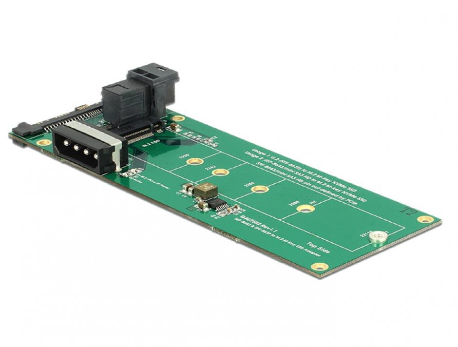 Imagine Convertor U.2 SFF-8639 / SFF-8643 NVMe la 1 x M.2 Key M, Delock 62945-2