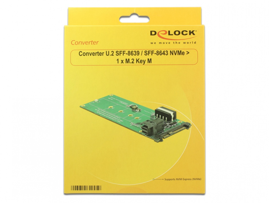 Imagine Convertor U.2 SFF-8639 / SFF-8643 NVMe la 1 x M.2 Key M, Delock 62945-5