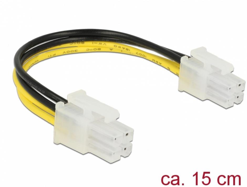 Imagine Cablu de alimentare P4 T-T 0.15m, Delock 85450