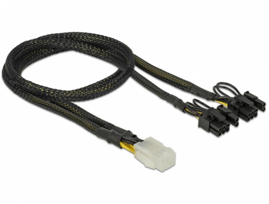 Imagine Cablu de alimentare PCI Express 6 pini la 2 x 8 pini M-T 30cm, Delock 85455 -1