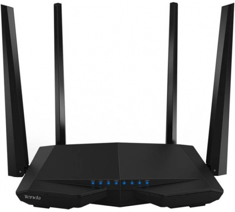 Imagine Router wireless 3 porturi AC 1200Mbps Dual-Band, 4 antene, TENDA AC6