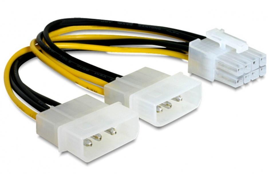 Imagine Cablu alimentare PCI Express 8 pini la 2 x Molex, Gembird CC-PSU-81