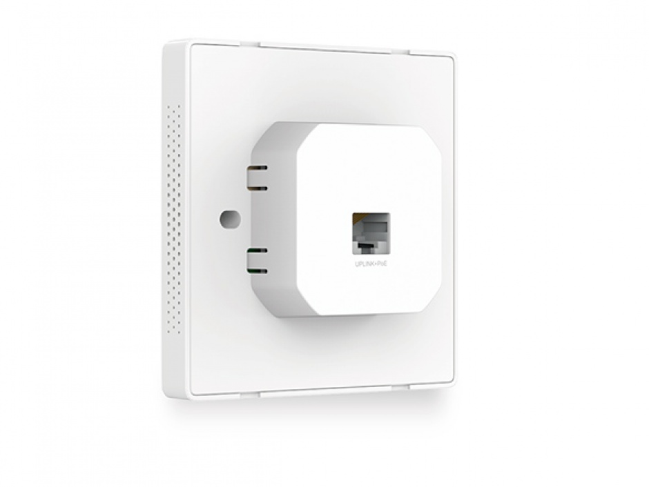 Imagine Access Point wireless N 300Mbps cu montare in doza de pe perete, TP-LINK EAP115-Wall