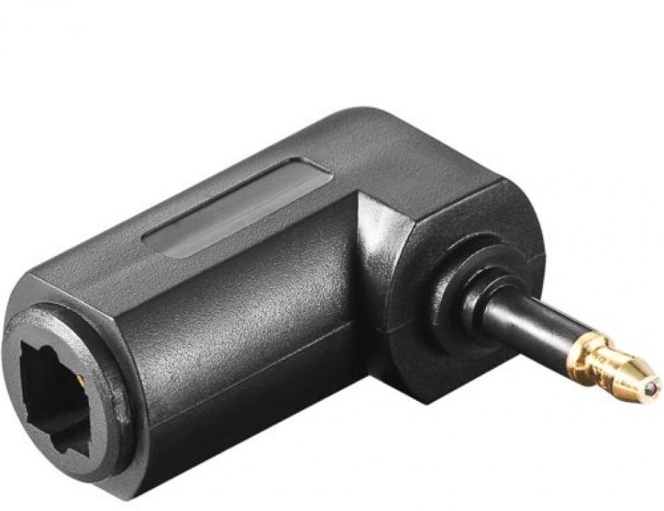 Imagine Adaptor audio digital optic Toslink la mini Toslink 3.5mm unghi