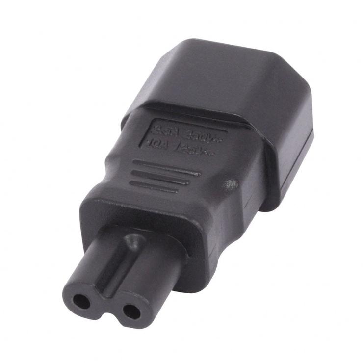 Imagine Adaptor IEC C7 2 pini casetofon IEC C14 3 pini M-T, Lindy L30452