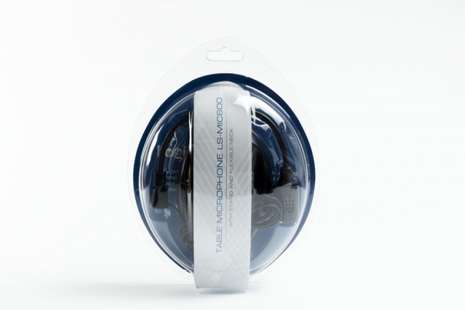 Imagine Microfon jack stereo 3.5mm negru, LogiStep LS-MIC600