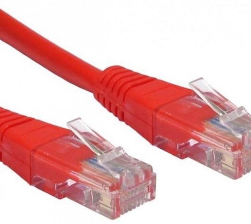 Imagine Cablu de retea UTP cat 5e 1m rosu, Spacer SP-PT-CAT5-1M-R