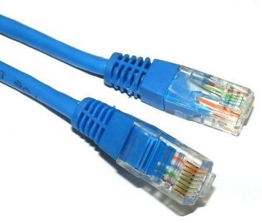 Imagine Cablu de retea UTP cat 5e 5m Albastru, Spacer SP-PT-CAT5-5M-BL
