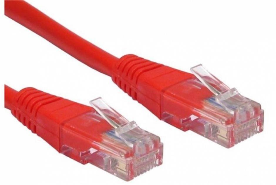 Imagine Cablu de retea UTP cat 5e 5m rosu, Spacer SP-PT-CAT5-5M-R